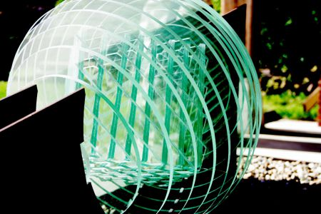 Glasbal - 60x150x50 - Glas Cortenstaal - 2009 -2
